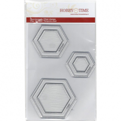 (Clear Stamps) Hexagons in...