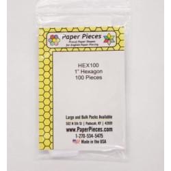 "Paper pieces 1"" Hexagon 100..."